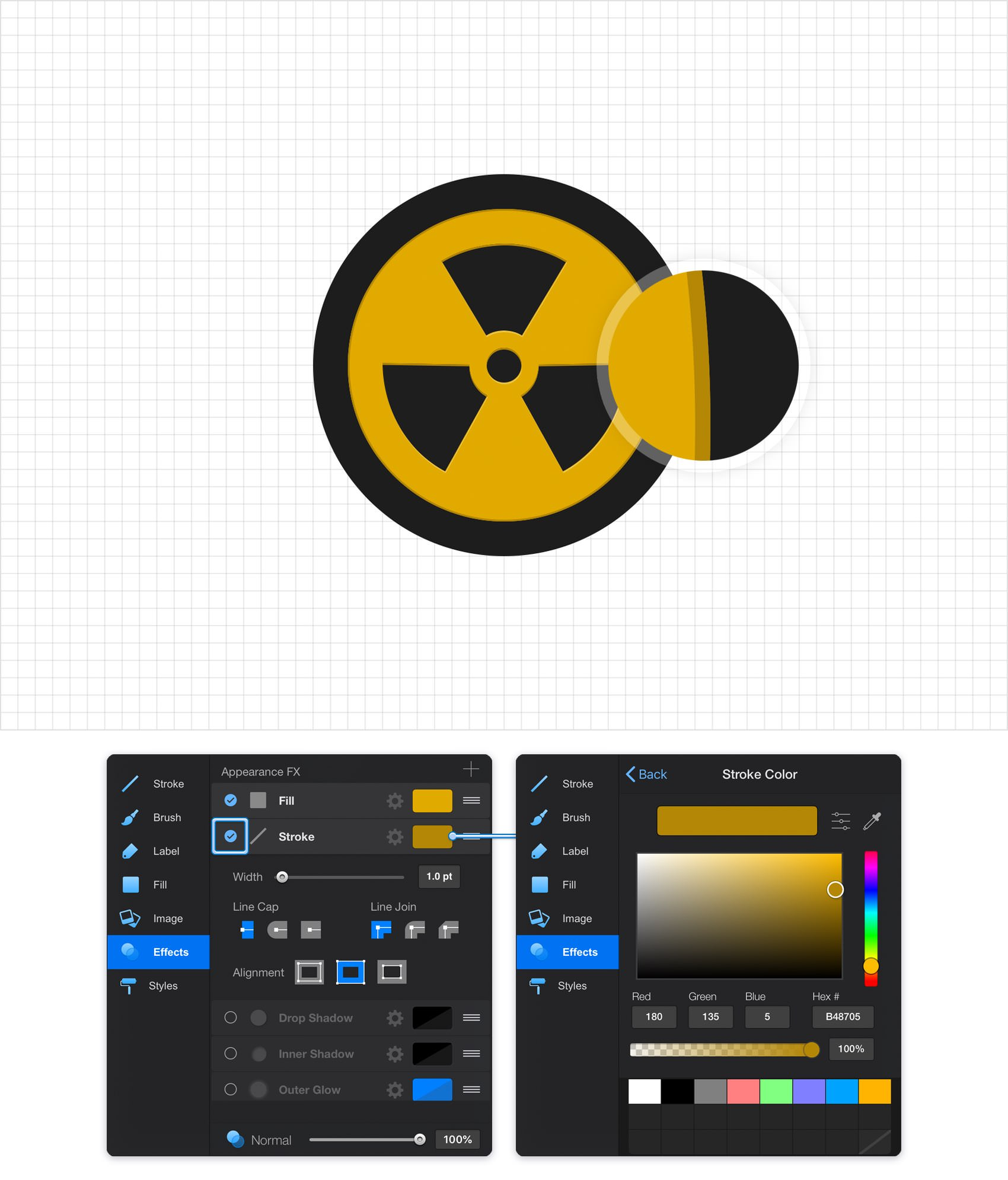 Graphic Create A Nuclear Symbol Icon